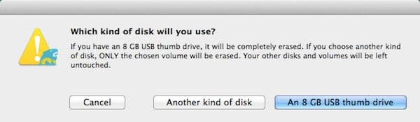 Disk Type Selection