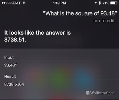 Siri: Squaring a number