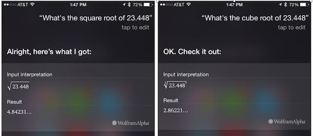 Siri: Square Root and Cube Root