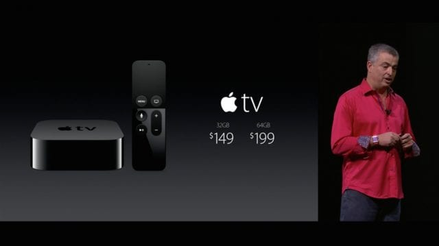 4th Generation Apple TV and Apple VP Eddy Cue at September 9, 2015 Event