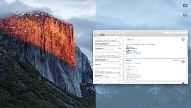 Setting up Split View in OS X El Capitan