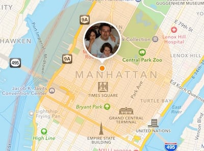 Location of a friend in NYC