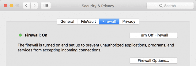 The Firewall tab in System Preferences srcset=