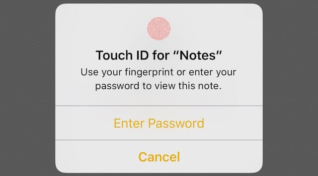 Unlock with Touch ID or password