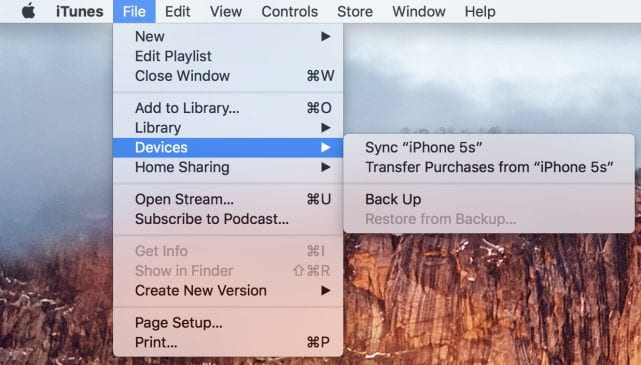 Transferring purchases from iOS device to Mac or PC