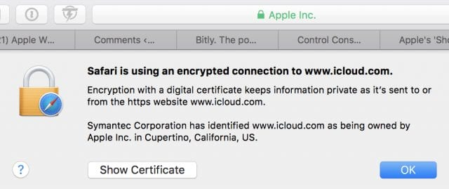 Certification of HTTPS connection
