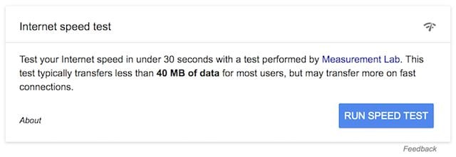 Google WiFi Speed Test, in cooperation with M-Lab.