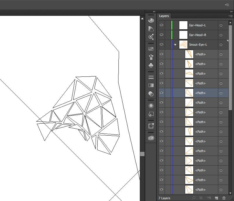 The beginning of a polygon mesh. Not the variance in polygon size and the benefit of previewing in outline mode periodically.