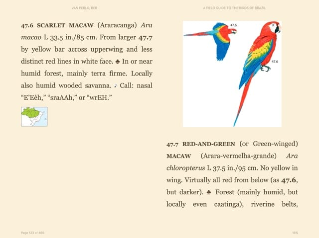 Field Guide to the Birds of Brazil (Amazon Kindle Book)