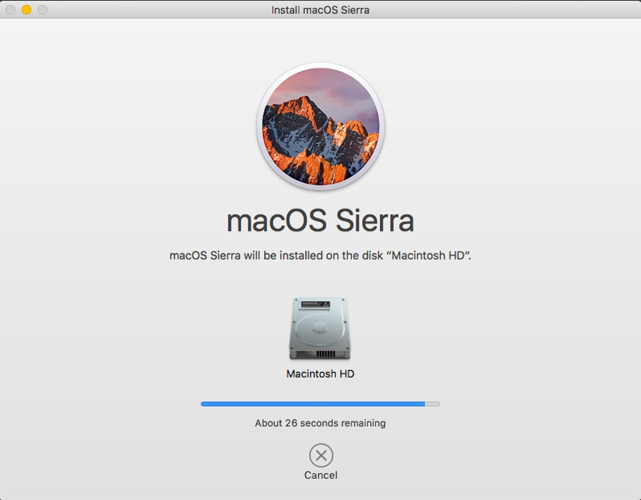 (Once the install is complete and your Mac restarts, it may fail to complete the reboot process.)