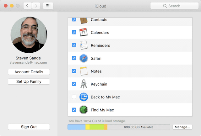 Making sure Find My Mac is enabled