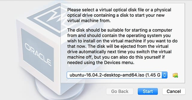 Selecting a disk image to boot from