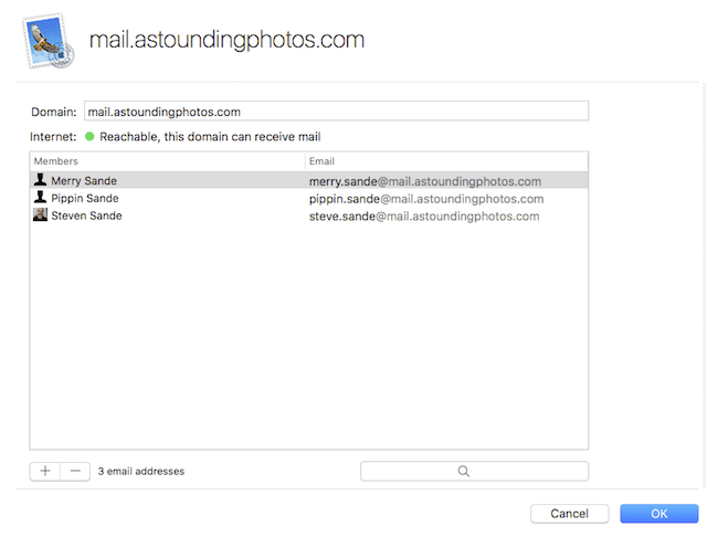 Adding users to the mail server