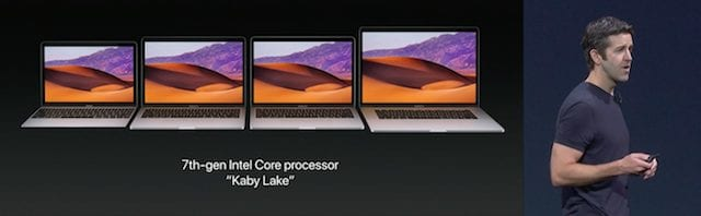 The MacBook lines received the Kaby Lake treatment as well
