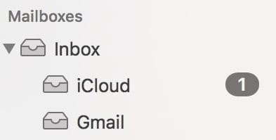 The list of mailboxes