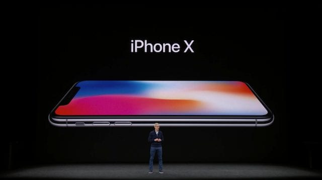 Tim Cook introduces the iPhone X