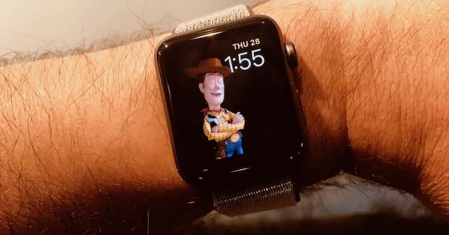 Sheriff Woody appears to be bored with hanging around on my wrist (he was blinking when I took the photo)
