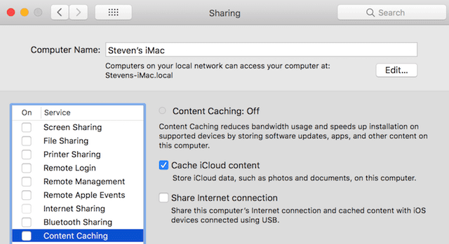 Content Caching is now a feature on any Mac running macOS High Sierra