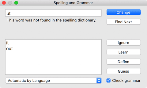 The macOS Spelling and Grammar checker can be used anywhere
