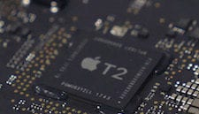Detail of T2 chip, photo from OWC teardown of the iMac Pro