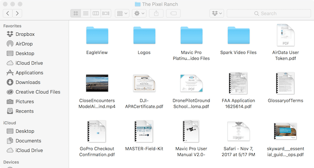 Keeping folders at the top of a folder view