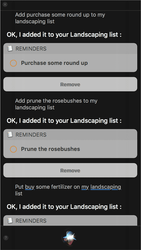 Adding more items to the landscaping list