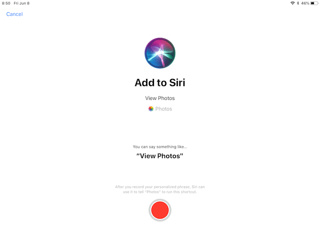Adding an app to Siri. This will be available for many Apple and third-party apps
