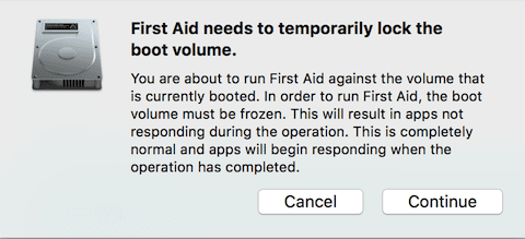 First Aid temporarily shuts down access to apps while running
