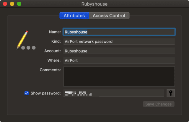 Enter the admin password, and voila! The password for your Wi-Fi network appears (it's hidden here).