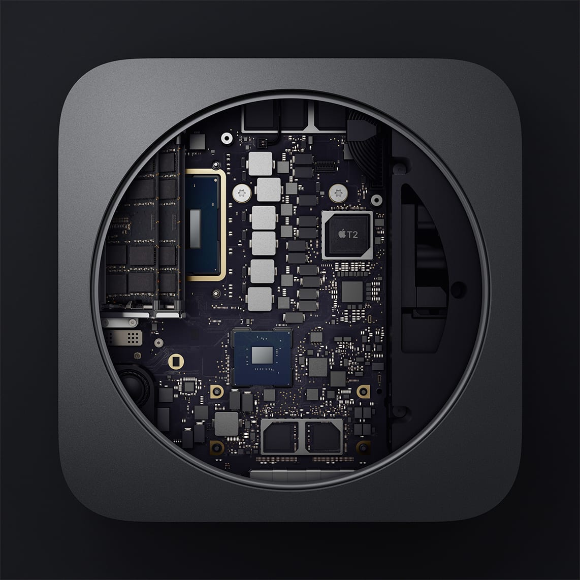 (The inside of the new Mac mini. Image courtesy of Apple)