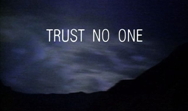 "A title screen from the TV show ""The X-Files"""