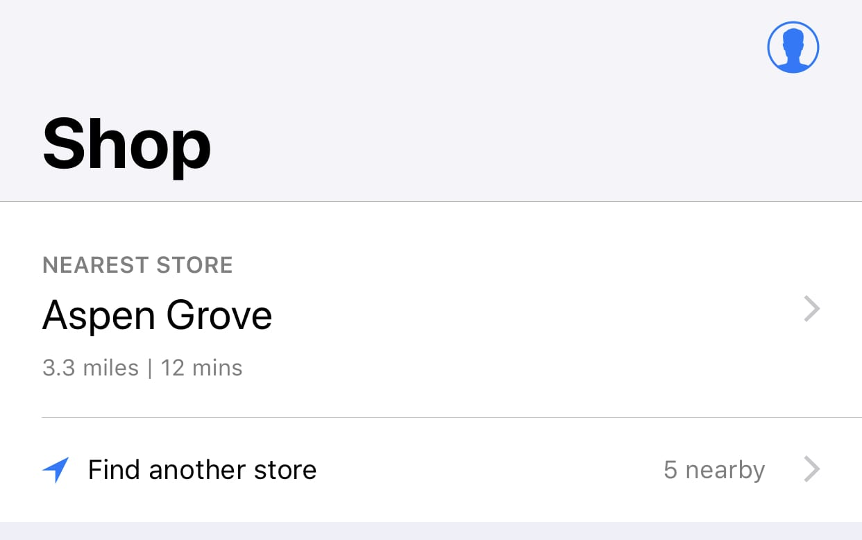 Use the Apple Store app to find the nearest store for repairs