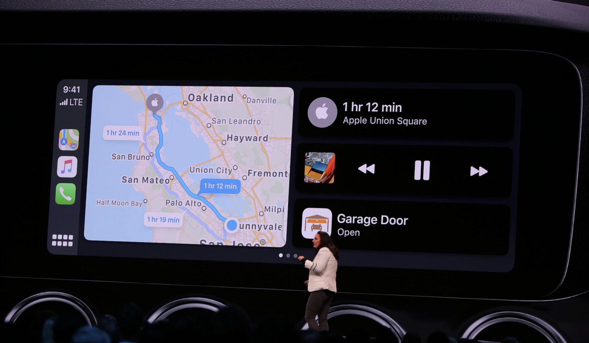 The new UI in CarPlay