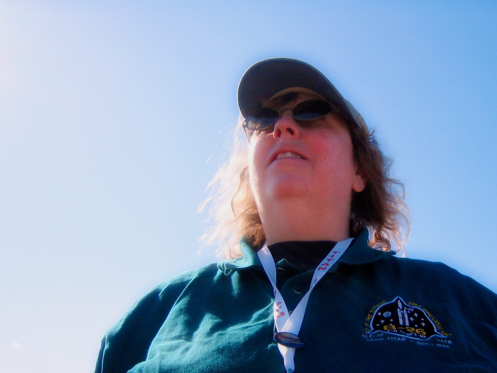 Rocket Scientist Barb Sande, at the Titan B-26 launch on October 19, 2005. Photo by Steve Sande