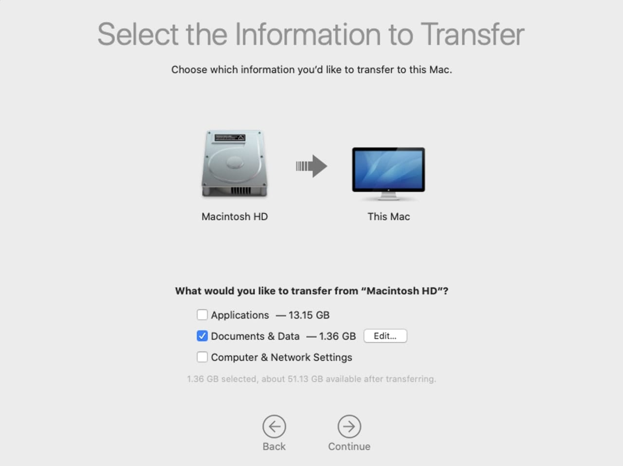 The Migration Assistant app can be used to restore your user data.