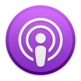 Podcasts app icon.