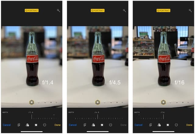 Coke Bottles at camera depth