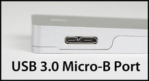 Picture of a USB 3.0 Micro-B Port