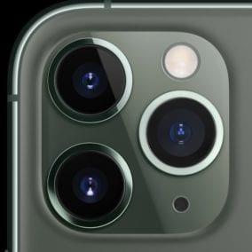 The three cameras of the iPhone 11 Pro and Pro Max. Image via Apple