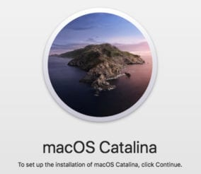 macOS Catalina installer.
