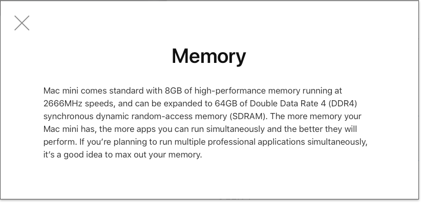 Screenshot of Mac mini Memory Choice Helper