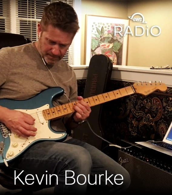 Kevin Bourke playing guitar