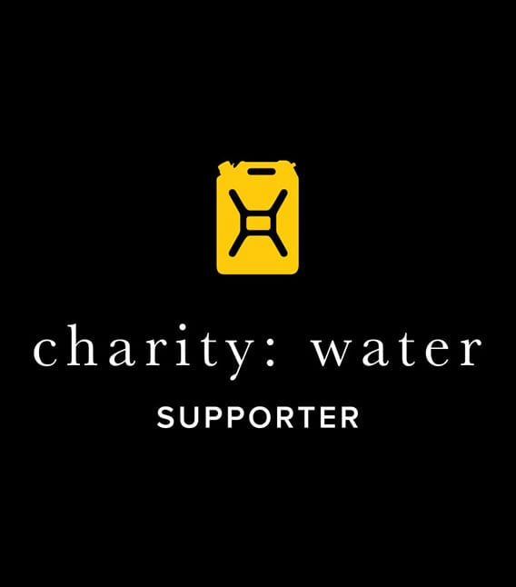 Charity Water supporter logo