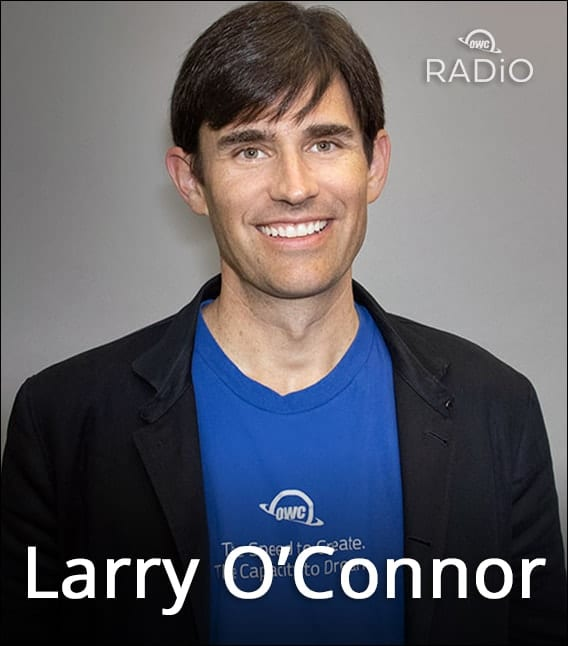 Larry O'Connor configuring Mac pro on OWC Radio