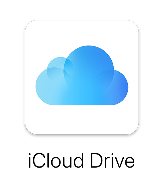 iCloud icon with iCloud Drive text