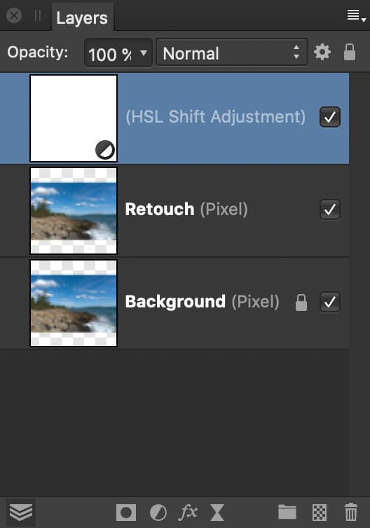 screenshot of affinity photo layers panel