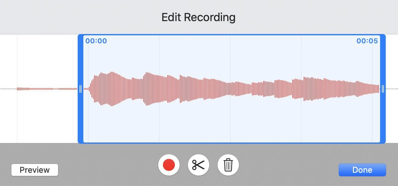 Narration audio is easy to edit, preview or even re-record