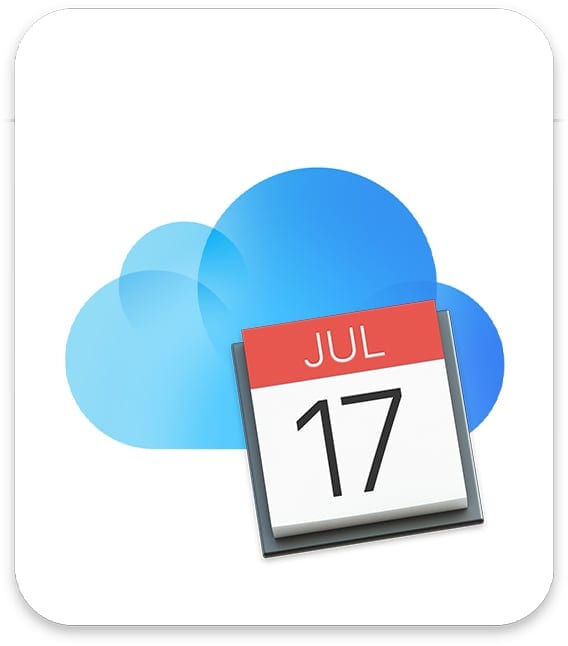icloud icon with mac calendar app icon