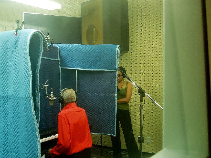 vocal recording using moving blankets