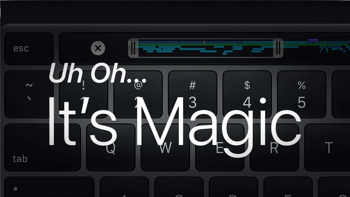 uh oh it's magic on top of a mac keyboard